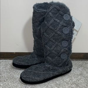 Muk Luks  women's knit sweater boots